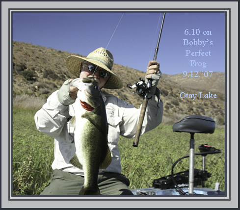 Has anyone tried the new strike king frog bass fishing for Otay lakes fishing