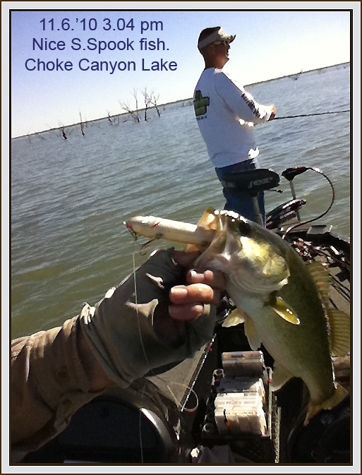 Super spooks middle treble pros and cons bass fishing for Choke canyon fishing report